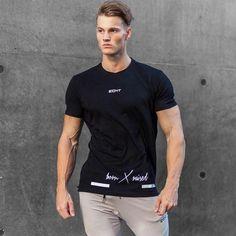 5a788ccc Men's ECHT Print Born X Raised Shirt. Gym ShirtsMan Summer LetterPrintedBodybuildingTypeShort SleevesMens TopsT Shirt