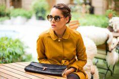 Aude Sarkamari from the blog My name is Odd wearing the Mademoiselle Tara trench coat. #tarajarmon #Mademoiselletara #coat