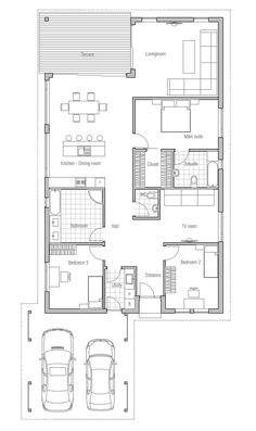 Small House Plan OZ71, Modern Architecture, 1 floor house plan