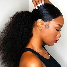 Ponytail | Bangs | Pinterest | Ponytail, Black girls hairstyles and ...