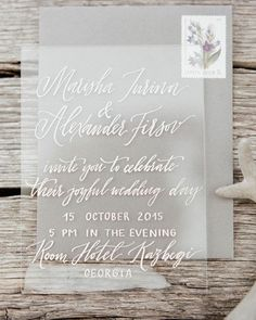 Oh the delicacy of this sheer invite