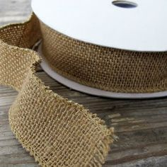 burlap on a spool --- Wish I knew about this sooner!!