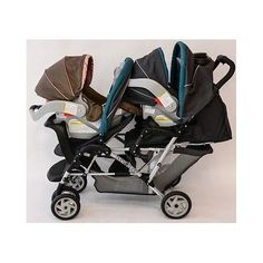 Double Baby Stroller Infant Twins Toddler Canopy Cupholder Car Seat Attachments - EXCLUSIVE DEAL! BUY NOW ONLY $189.99
