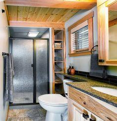 West Coast Homes   San Juan Park Model for Wildwood Lakefront Cottages   Bathroom