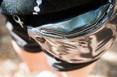 Black Disco - nerka na skórzanym paseczku w ANACOMITO na DaWanda.com