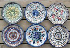 6 Kuchenteller, Ø 18 cm, Künstlerset, BSN Cake Plates, Dinnerware, 18th, Decorative Plates, Colours, Patterns, Home Decor, Image, Dishes