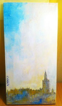 Skyline de Sevilla. Técnica mixta
