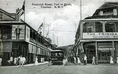 An poster sized print, approx (other products available) - Frederick Street, Port of Spain, Trinidad, West Indies. Date: circa 1915 - Image supplied by Mary Evans Prints Online - Poster printed in the USA Port Of Spain, Trinidad Caribbean, Trinidad And Tobago, Poster Prints, Framed Prints, Park Hotel, West Indies, Online Images, Island Life