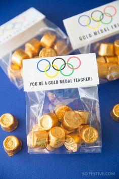 You're a Gold Medal Teacher- Teacher Appreciation gift ideas Employee Appreciation Gifts, Volunteer Appreciation, Teacher Appreciation Week, Employee Gifts, Staff Gifts, Teacher Gifts, Simple Gifts, Easy Gifts, Creative Gifts
