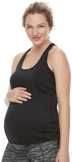 f29d882cfe25 A Glow Maternity a glow Mesh Workout Tank Maternity Activewear