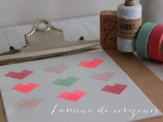 DIY: lámina con corazones de washi tape