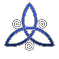 The Celtic Trinity Symbol    Meaning-Father, Son, Holy Spirit (or) Past, Present, Future. also 3 phases of womenhood maybe my next tattoo to cover the bad one