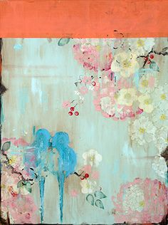 """""""Caress,"""" 24 x 18"""" www.kathefraga.com Kathe Fraga paintings 2014 Inspired by vintage Paris and Chinoiserie ancienne"""