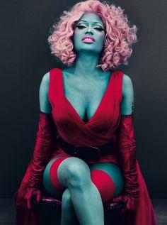 She's green!  Nicki Minaj by Steven Klein in 'True Colors' for American Vogue