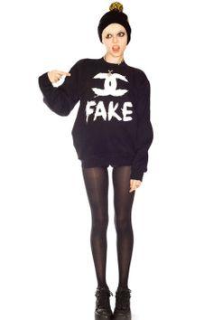 FAKE Chanel Sweatshirt - Love it :)