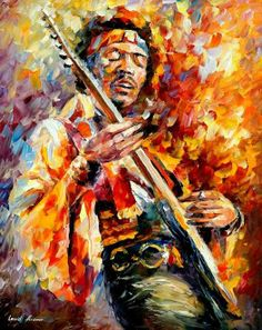 Awesome painting of Jimi Hendrix