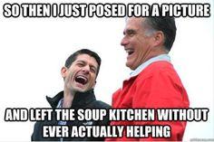 Paul Ryan's soup kitchen photo op...