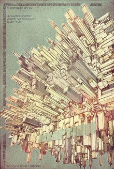 """Stunning """"Inception"""" poster.  I wish I had $150 to put it on my wall."""