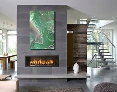 Contemporary fireplace designs will be needed when you are going to apply a fireplace in the living room. Actually, anything must be suited with the style when you are about to design the interior of the room, including the fireplace. Modern Fireplace Mantels, Linear Fireplace, Country Fireplace, Fall Fireplace, Fireplace Hearth, Living Room With Fireplace, Fireplace Surrounds, Fireplace Ideas, Mantel Ideas