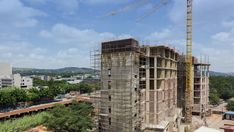 A new residential building being constructed and developed in the Hatfield area. Pretoria, High Quality Images, Stock Footage, South Africa, Construction, Building, Buildings