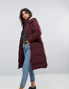 Shop for Parka London Long Padded Coat With faux Shearling Hood on ShopStyle.