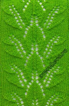 Knitting pattern of vegetation Lace Knitting Stitches, Lace Knitting Patterns, Knitting Blogs, Knitting Kits, Knitting Charts, Lace Patterns, Free Knitting, Stitch Patterns, Knitting Needles