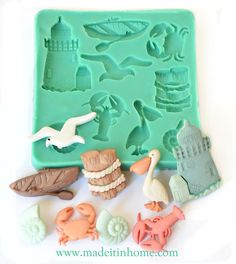 Silicone Mould OCEAN Crab Lobster Seagull Sugarcraft Cake Fondant /fimo mold | eBay