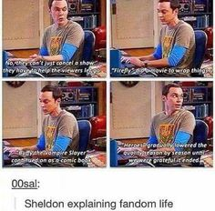Sheldon explains the pact that we demand from our Fandoms