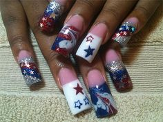 10 Elegant Fourth Of July Nail Art Designs, Ideas & Trends 2014 | 4th Of July Nails
