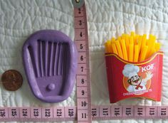BIG French Fries Box Template Food Safe Silicone Mould for cake fondant,gum paste,chocolate,candy,sugarcraft N more or for resin,clay,wax,plaster,low melt metals N more by MoldCreationsNmore on Etsy.com
