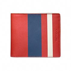 8edad9222a96 Coach Wallet - BLEECKER PAINTED STRIPE DOUBLE BILLFOLD Coach Wallet