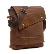 Café  Strang Durable en cuir sacs hommes en toile sac par BanioShop
