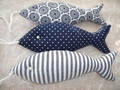 3++Deko-Fische+in+blau/weiß....+von+Funkellichter+auf+DaWanda.com