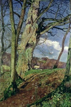 "poboh: ""In Early Spring Painting, John William Inchbold. English (1830 - 1888) - Oil on Canvas - """