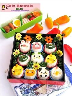 Cute Animals Bento | Community Post: 25 Adorable Bento Boxes You Wish Your Mom Made