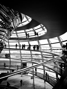 Very impressive building - the spiral within the Reichstag Dome, Berlin, Germany