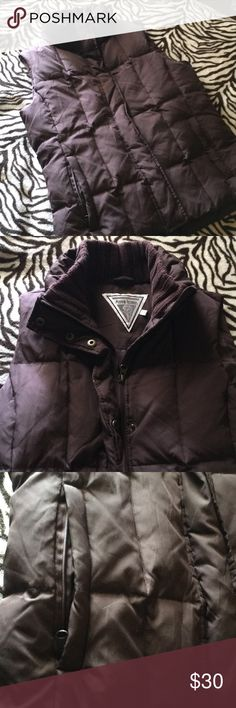Marvin Richards Brown Quilted Puffer Vest In excellent condition Marvin Richards Jackets & Coats Vests