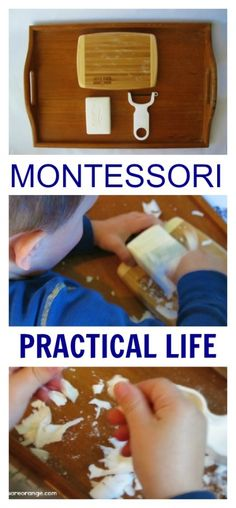 I recently added two new Practical Life works to the boys space: a clothespin matching work and a soap peeling work.