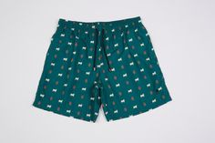Podenco Eivissa Green Cow and Hand print swim shorts To buy: https://www.etsy.com/listing/213779814/forest-green-cow-and-hand-mens-swimwear?ref=shop_home_active_17