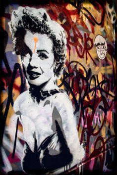 Street Art in London - Marilyn
