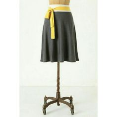 """Anthropologie Girls from Savoy Sweater Skirt Gently used, only worn a few times   Flat Measurements: Length 21"""", Waist 14""""-17"""" (waist provides stretch) Anthropologie Skirts A-Line or Full"""