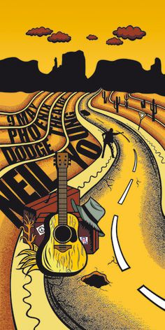Neil Young Concert Poster by Edyta Petrzak
