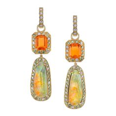 Erica Courtney Fire Opal earrings