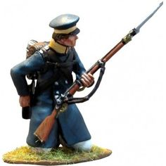 NP 289 Prussian Landwehr kneeling loading Metal Toys, Toy Soldiers, Dioramas, Army, Military, Diorama