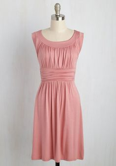 I Love Your Dress in Dusty Rose. You'll really feel the adoration while wearing this muted pink dress! #blush #modcloth