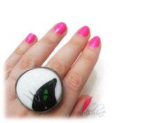 sOWLshine handmade jewelry - black cat ring www.sowlshine.blogspot.com