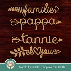 Product Laser cut word-arrow templates. Online pattern store. Free vector designs everyday. @ shop-msl.com Arrow Pattern, More Words, Kids Decor, Vector Design, Wooden Boxes, Laser Cutting, Free Design, Vector Free, Templates