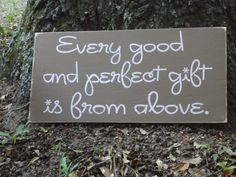 Every Good and Perfect Gift Painted Sign by PurePaintedSigns, $65.00