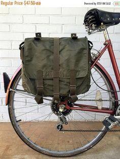 10% OFF Austrian Army Surplus Knapsack Vintage Bicycle Pannier