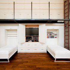 Modern Living Room By Radius Architectural Millwork Ltd Bedroom Storage Loft